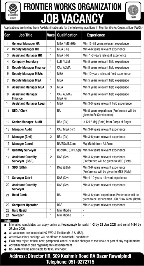 Frontier Works Organization Jobs