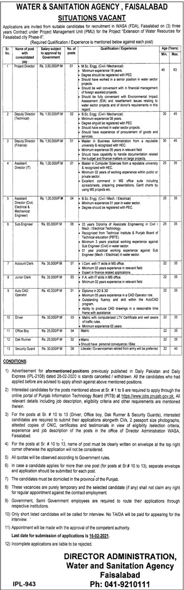 Water And Sanitation Agency Jobs