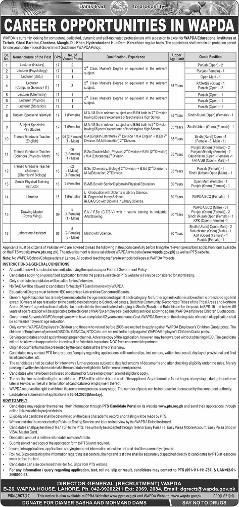 WAPDA Jobs 2020