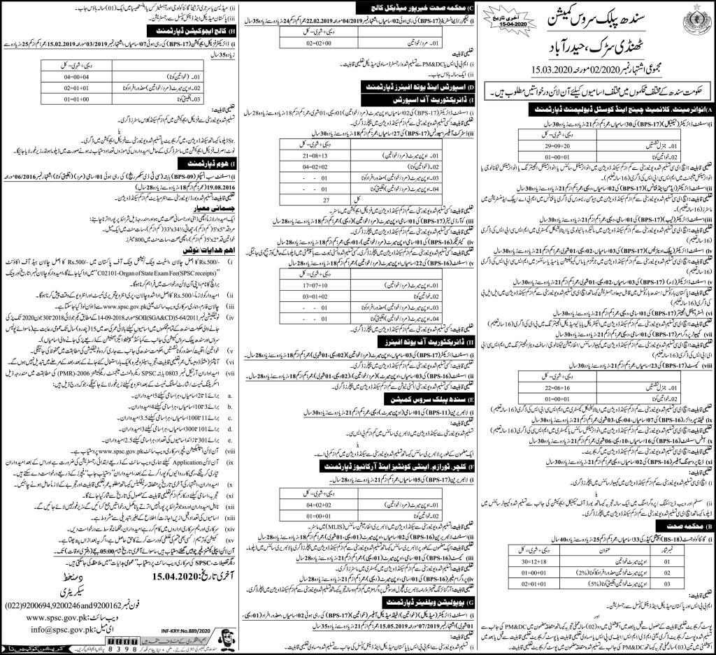 Sindh Public Service Commission Jobs