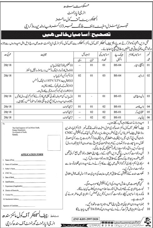 Mines and Minerals Department Jobs