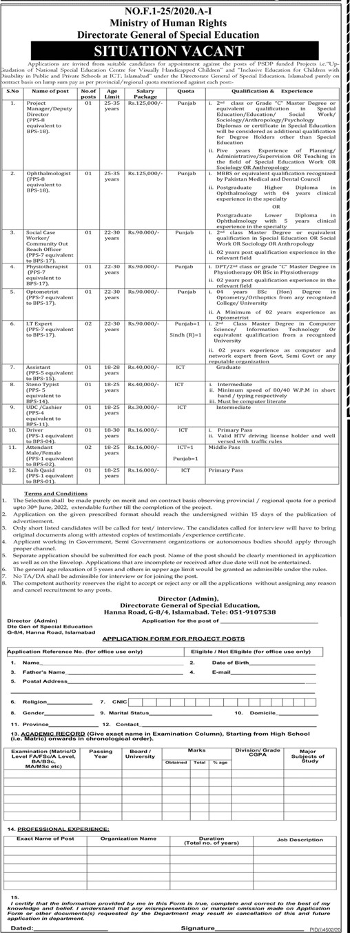 Ministry of Human Right Jobs