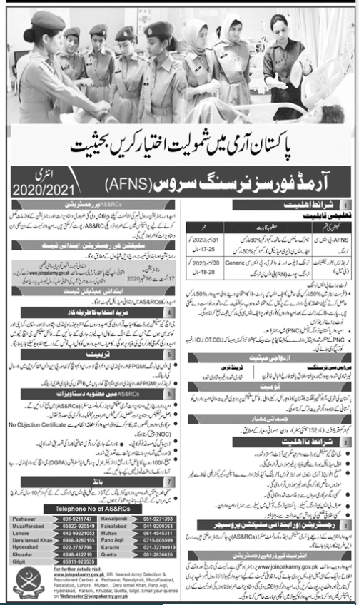 Armed Forces Nursing Service Jobs