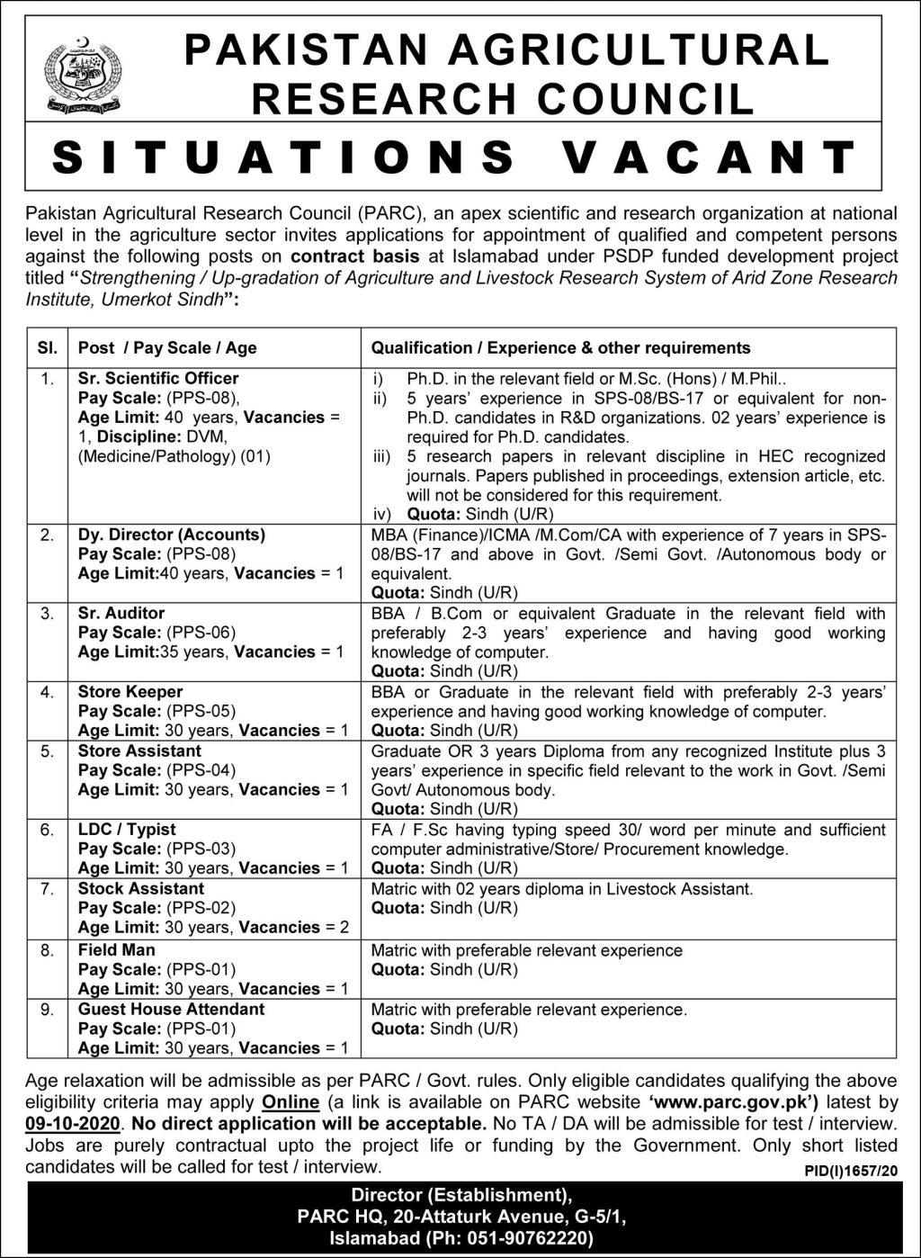 Agricultural Research Council Jobs